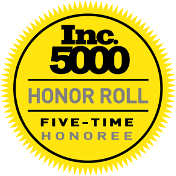 Inc 5000 Honer Roll: Five-Time Honoree